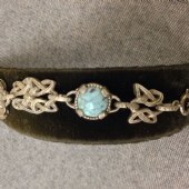 Miracle Celtic Knot and Faux Turquoise Jewelled Bracelet - Vintage (Sold)